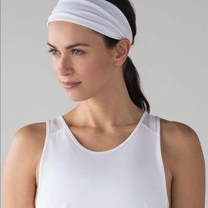 Lululemon Fringe Fighter Headband in White
